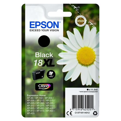 Epson blækpatron 18XL Sort