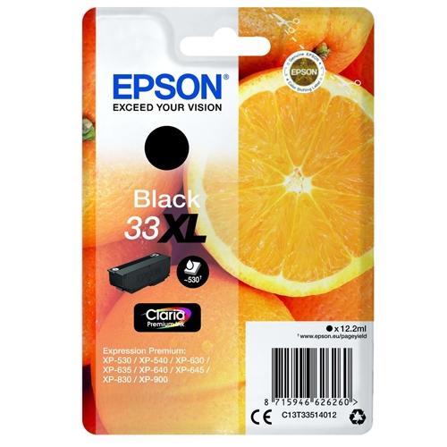 Epson blækpatron 33XL Sort