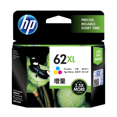 hp blækpatron C2P07AE 62XL color