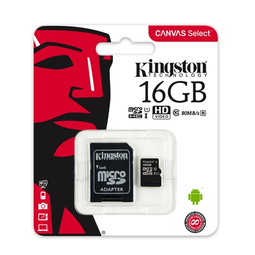 Kingston Secure Digital 16 GB Class 10